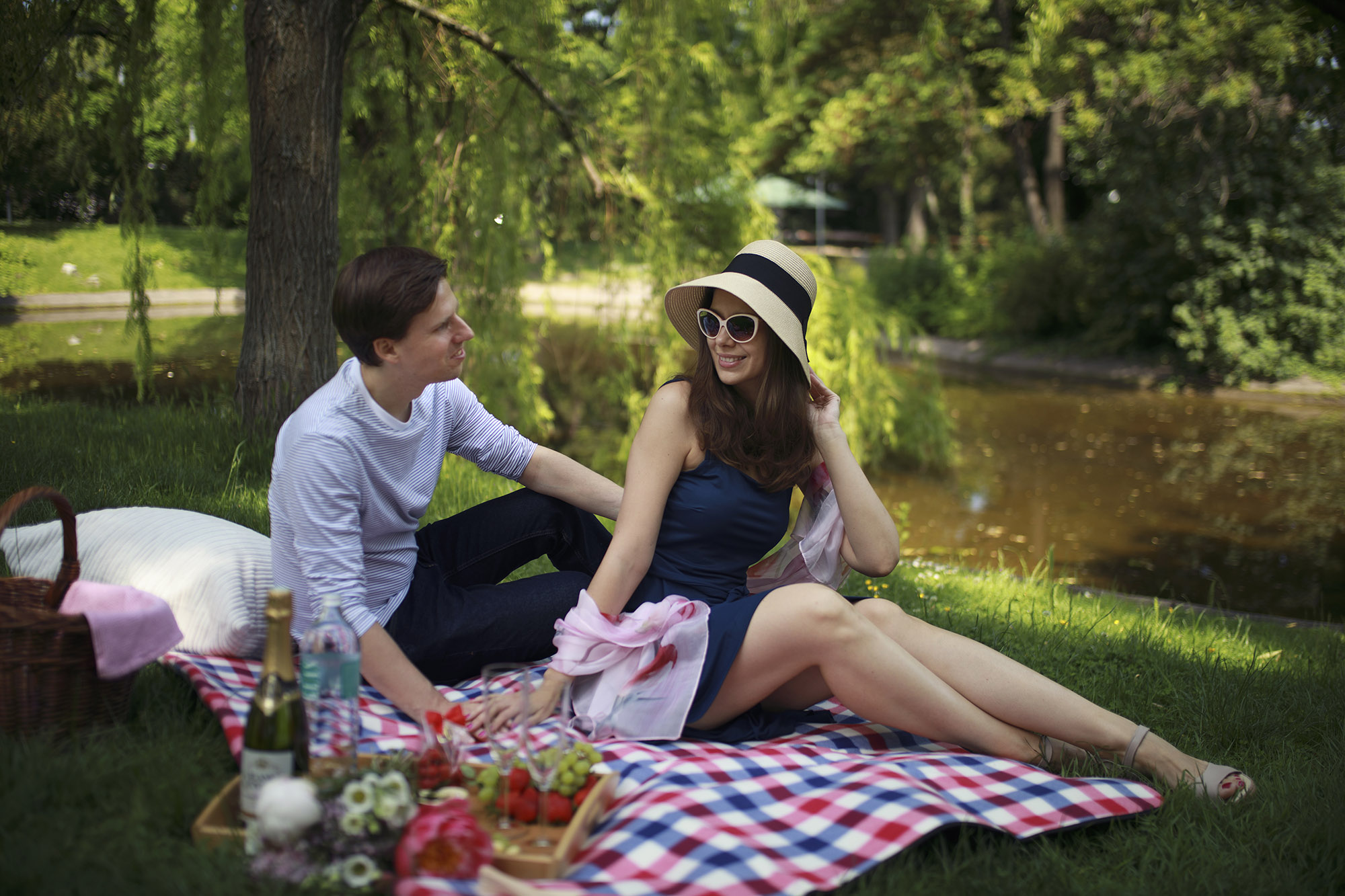 Young couple on a picnic